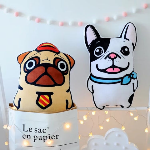French Bulldog & Pug Shaped Cushions