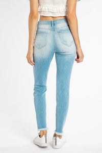 Bailey Distressed High-Rise Skinny KanCan Jean