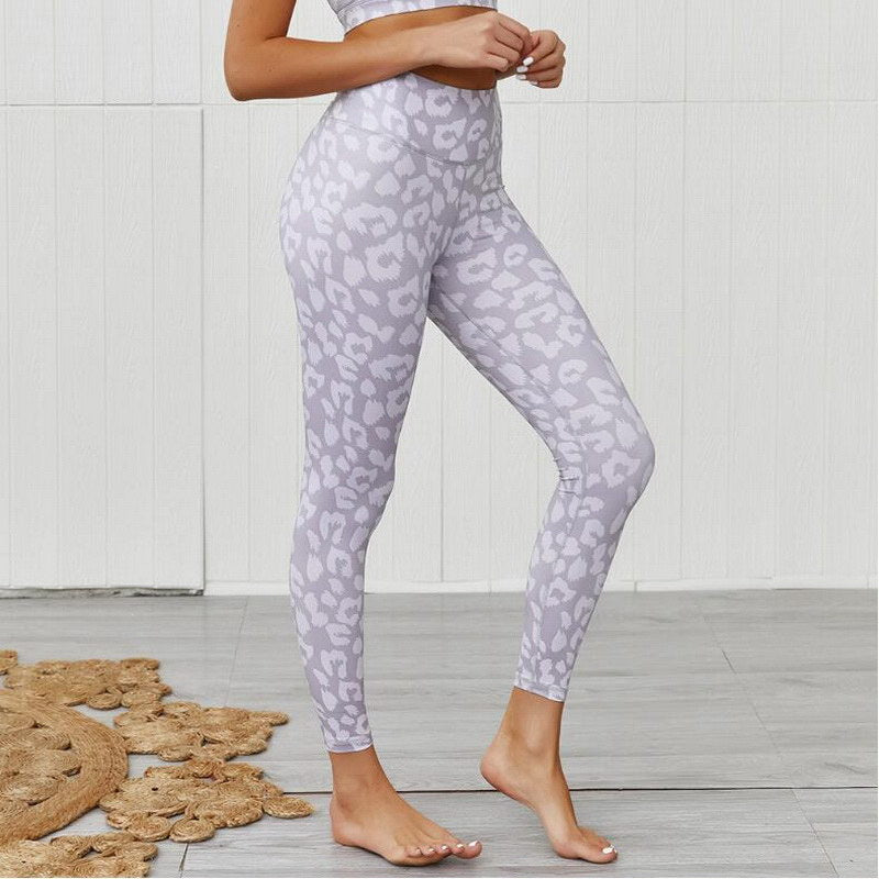 Colored Leopard Scrunch Leggings