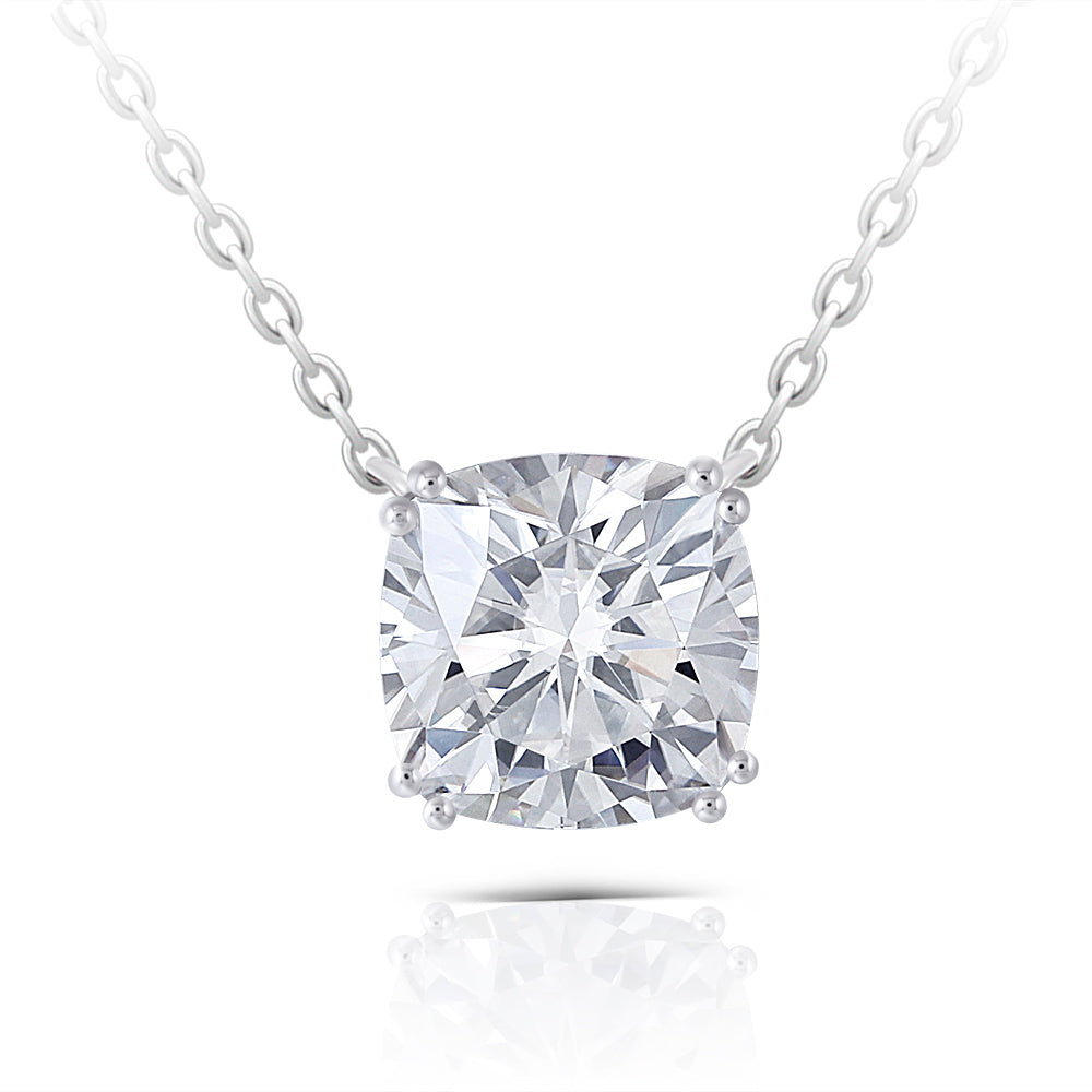 DovEggs 14K White Gold 2ct Moissanite Necklace