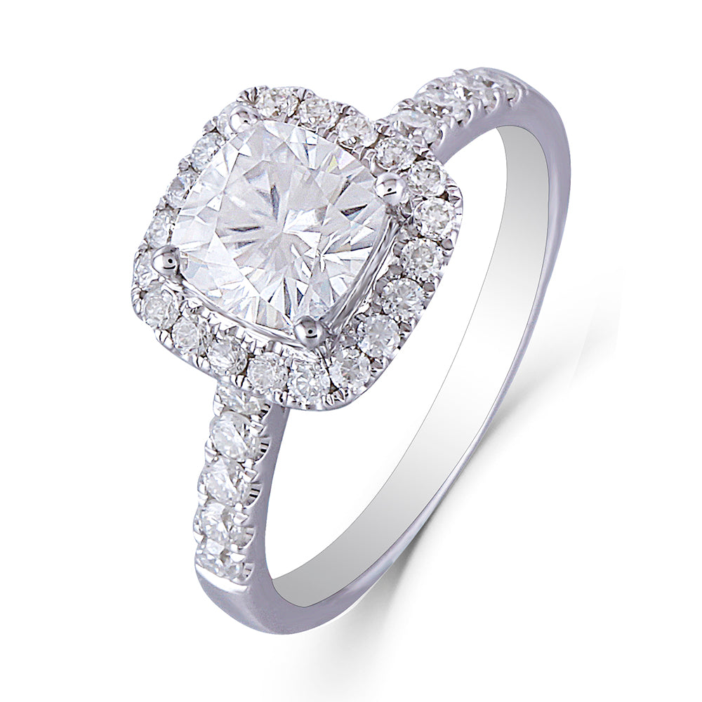 DovEggs 10k withe gold 1ct Moissanite Engagement Rings