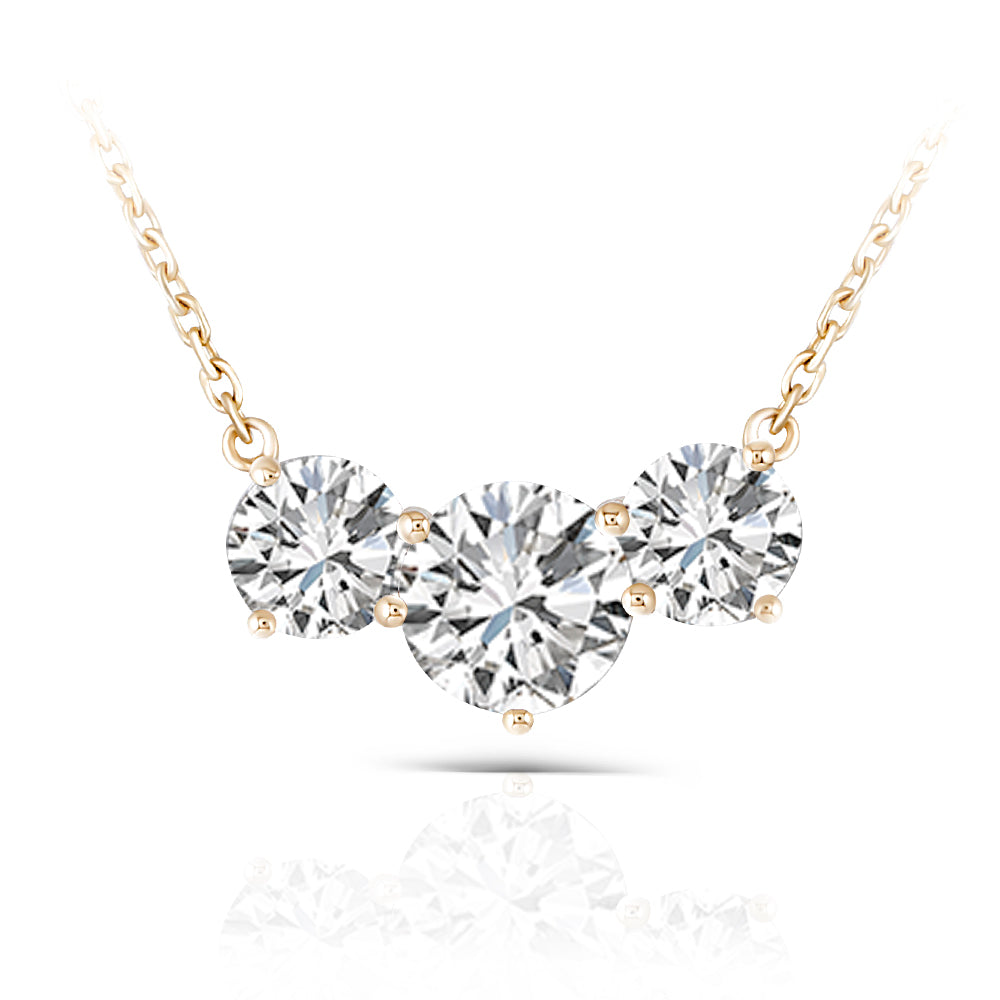 DovEggs 14K Yellow Gold 2ct Moissanite Necklace