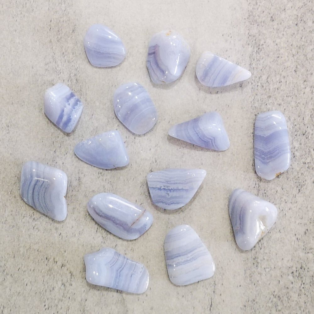 Crystals - Tumbled -  Blue Lace Agate
