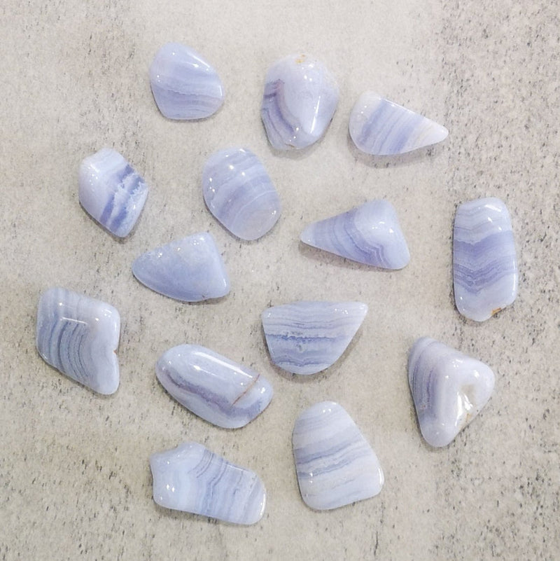 Blue Lace Agate | Tumbled