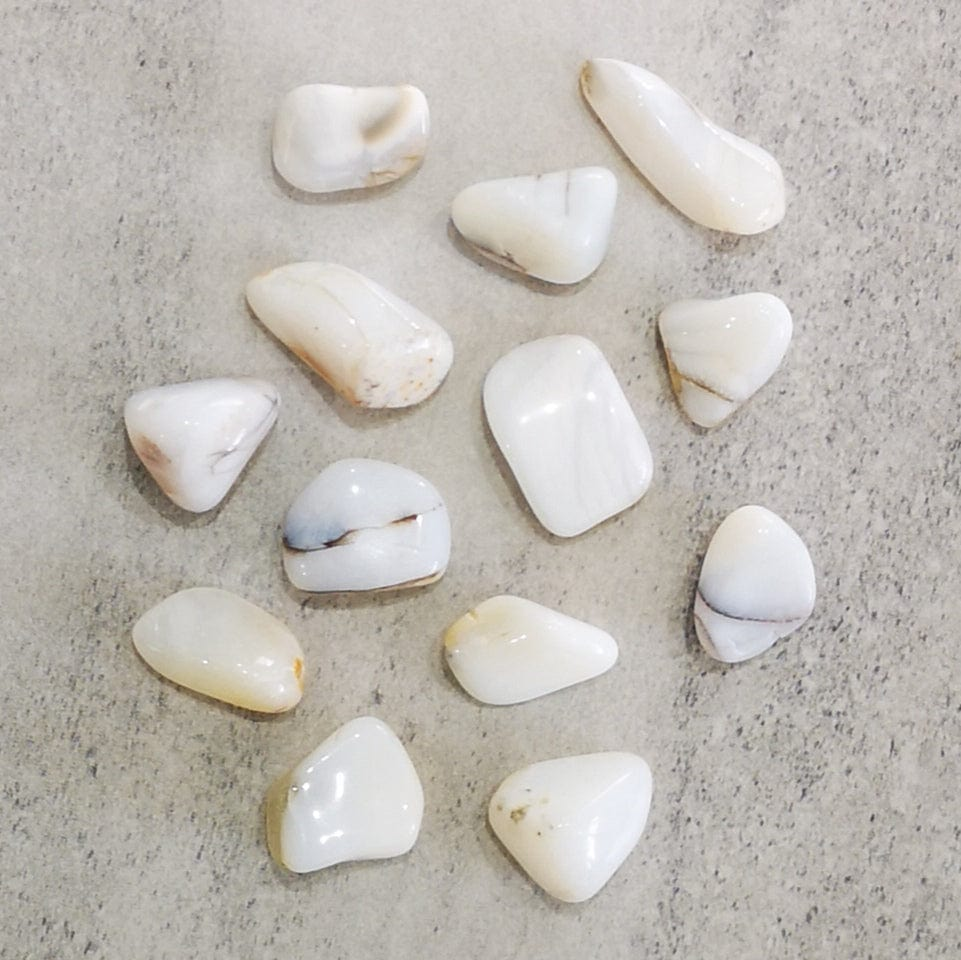 Crystals - Tumbled - White Opal