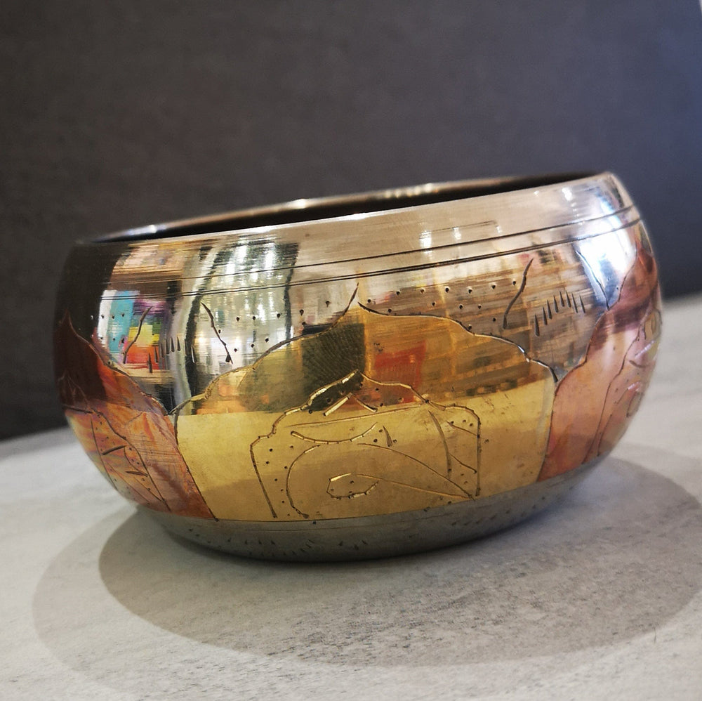 Singing bowl - Copper / silver