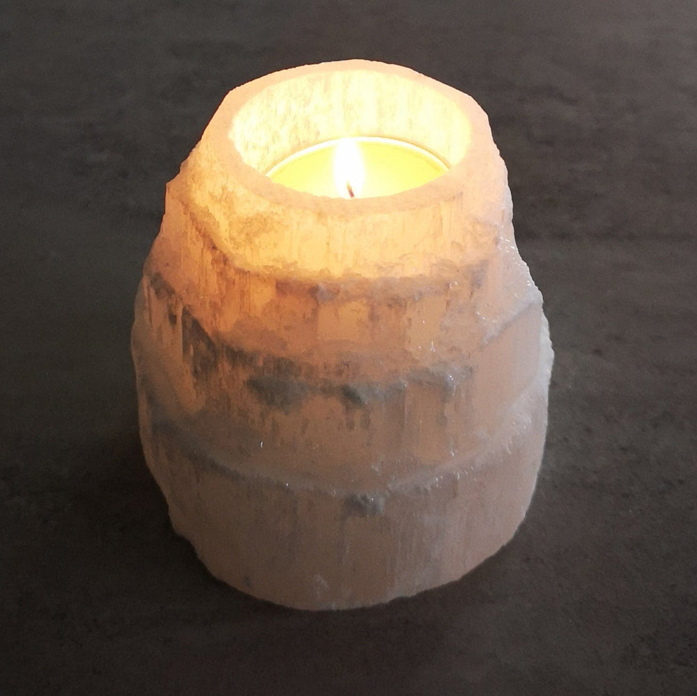 Selenite - Candle Holder