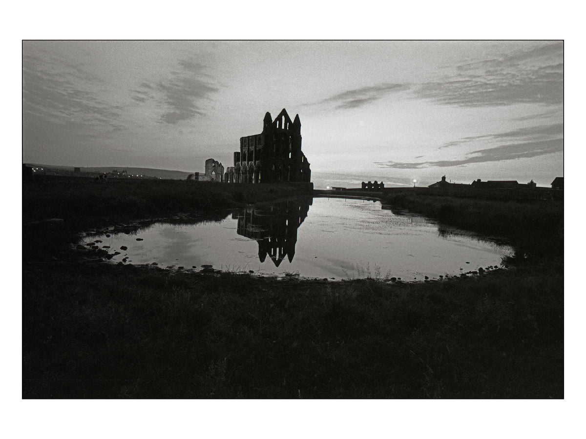 Whitby Abbey at sunset, 1984