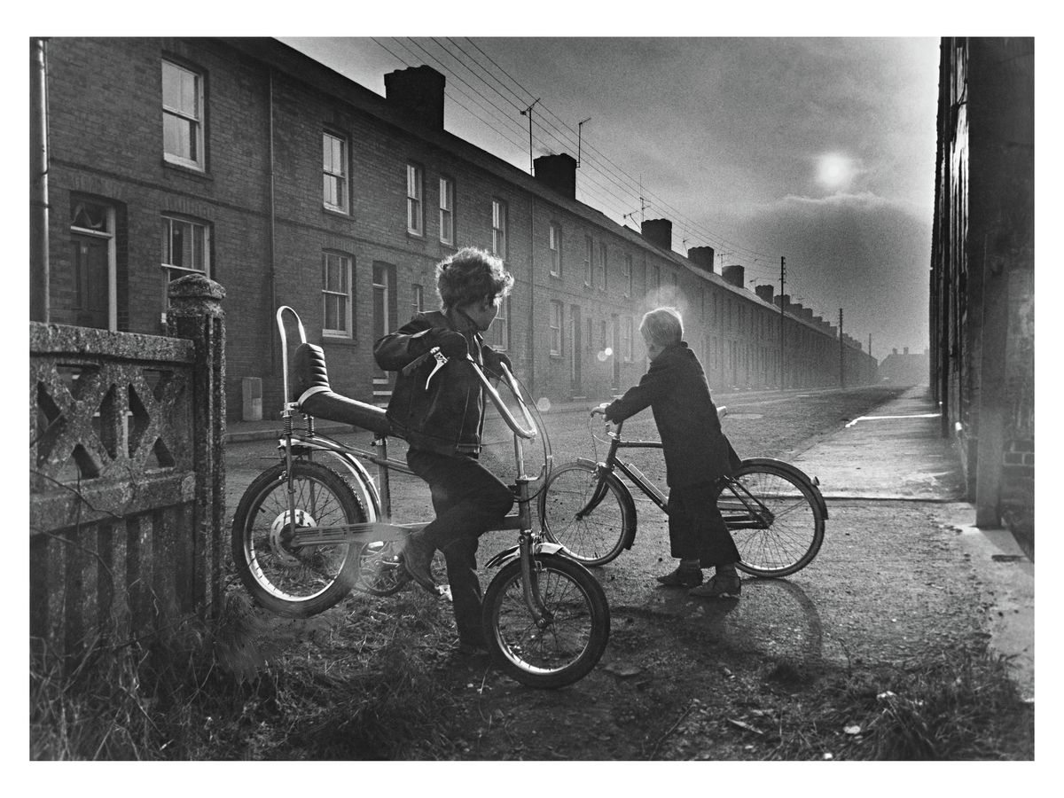 Two Boys on Bikes, Holmewood, Derbyshire, 1973