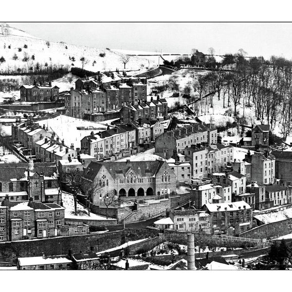 Hebden Bridge in the snow, 1978