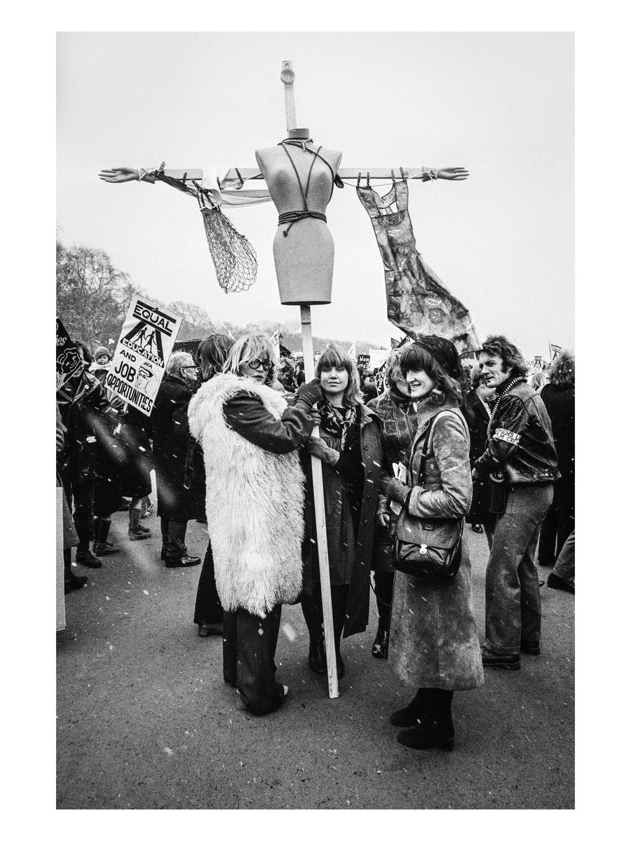 Demonstrators at Speaker's Corner, 1971