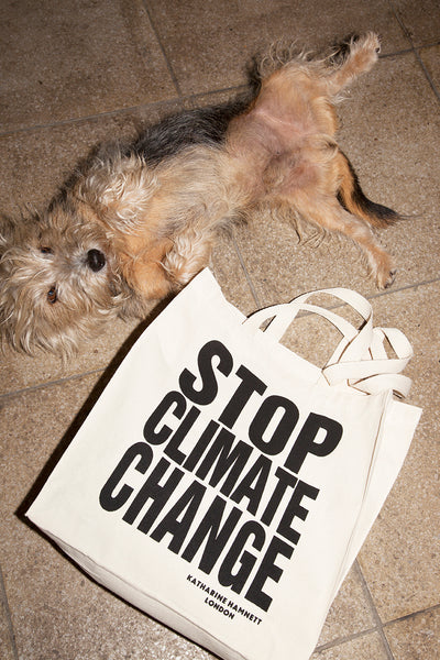 'STOP CLIMATE CHANGE' Tote bag By Katharine Hamnett.