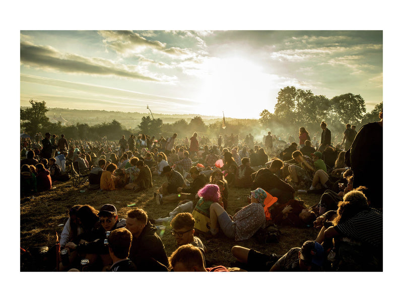 Dawn at Glastonbury festival, June 2017