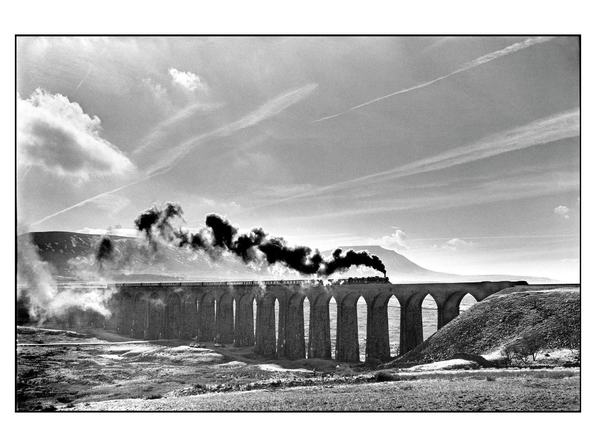 Ribblehead viaduct on the Settle to Carlisle railway, Yorkshire, 1986
