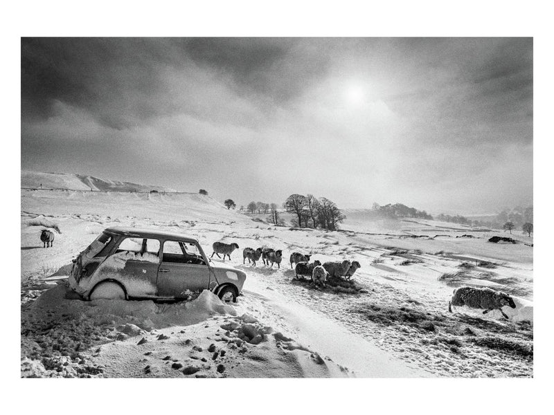 Abandoned car, Peak District, 1979