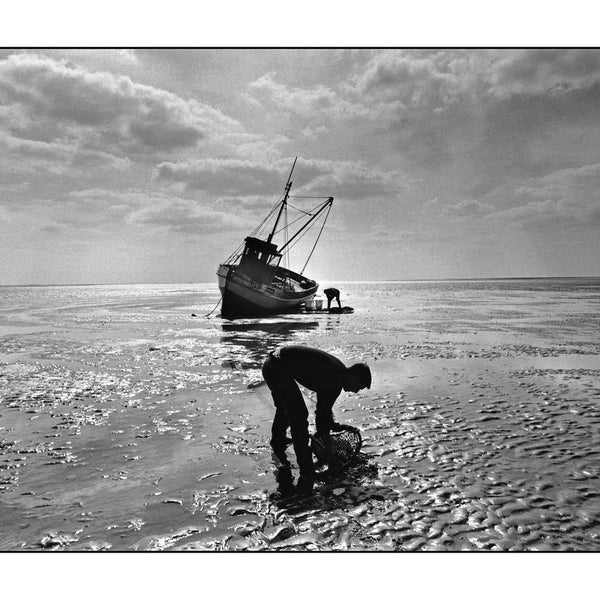 Traditional cockle fishermen, Norfolk, 1988