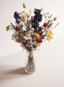Bouquet multicolore +vase