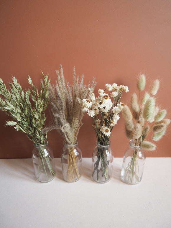 Ensemble de 4 bouquets + vases