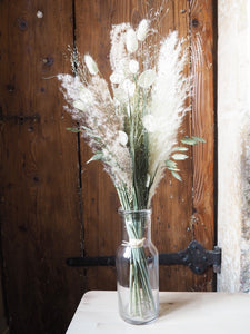 Bouquet + vase ancien