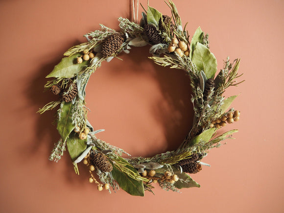 Couronne d'herbes aromatiques