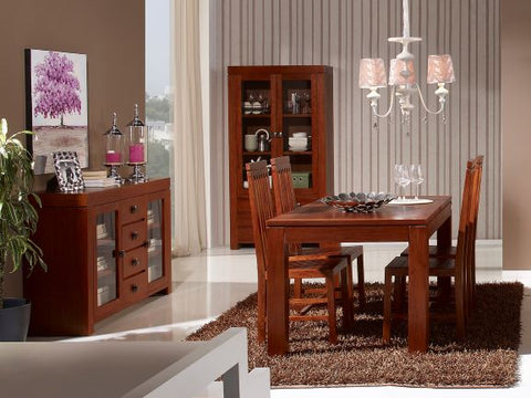Image of NATURE mesa de comedor rectangular extensible