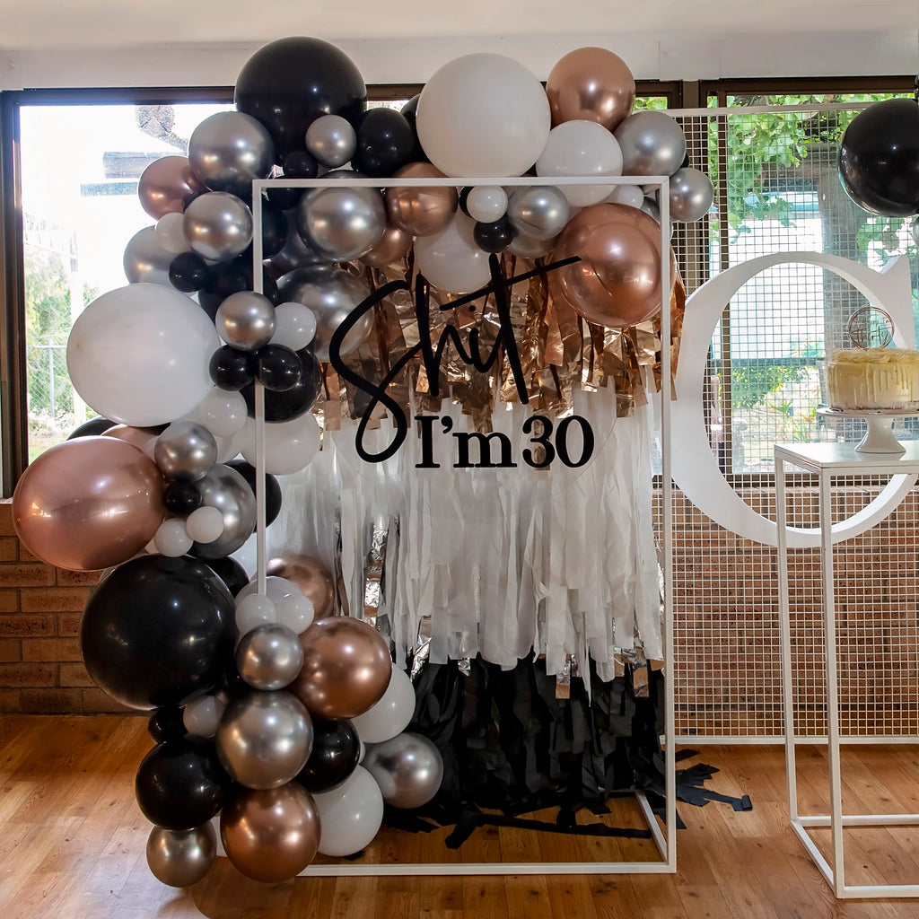 Chrome gold and rose gold DIY Balloon Garland Kit