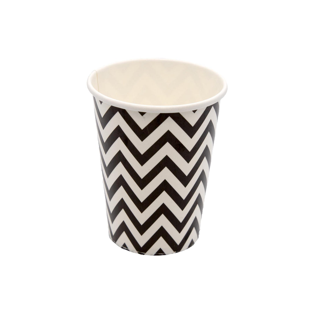 Black Chevron Cup - 10 Pack-Oh My Party