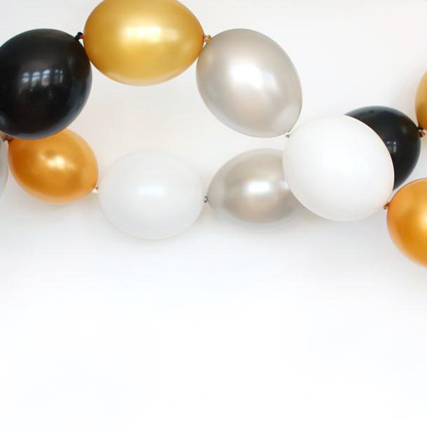 Black Tie Linking Balloon Garland-Oh My Party