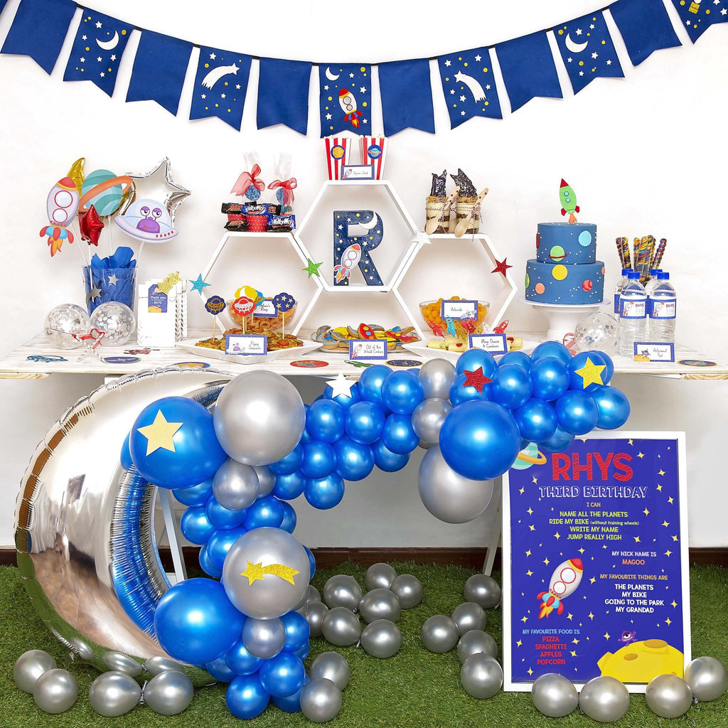 Blast Off Balloon Garland-Oh My Party