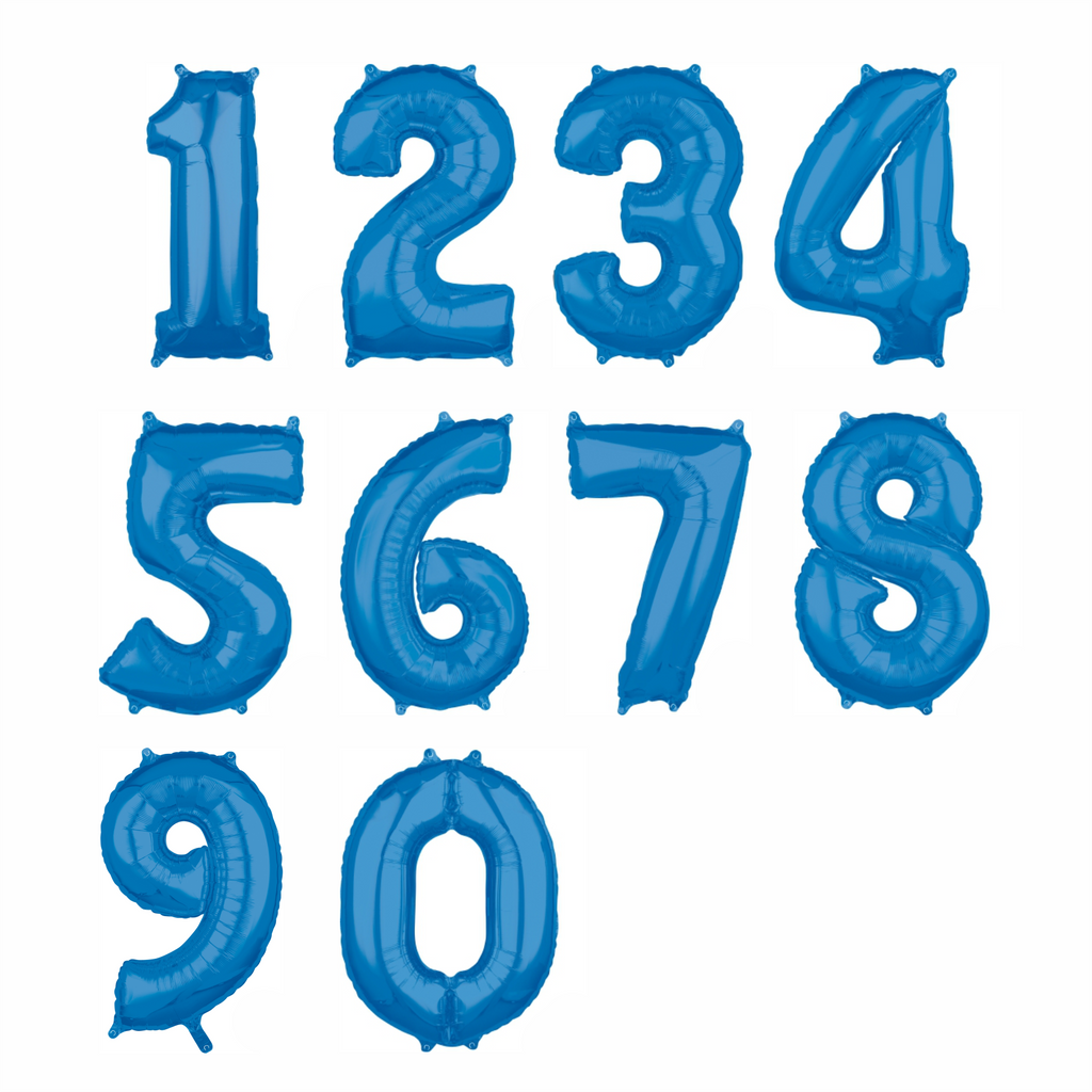 Blue Foil Numbers-Oh My Party