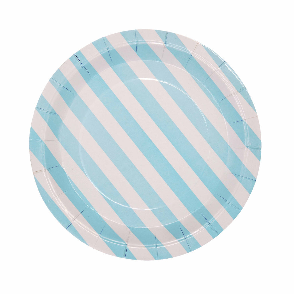 Blue Pattern Plate - 12 Pack-Oh My Party