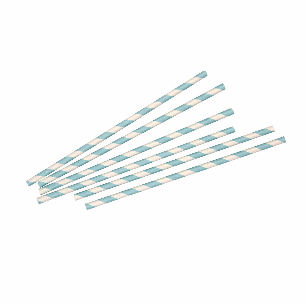 Blue Stripe Straw - 25 Pack-Oh My Party