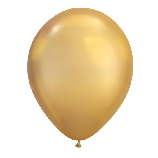 Gold Chrome Latex Balloon-Oh My Party