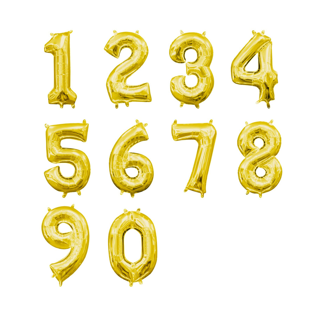 Gold Foil Numbers-Oh My Party