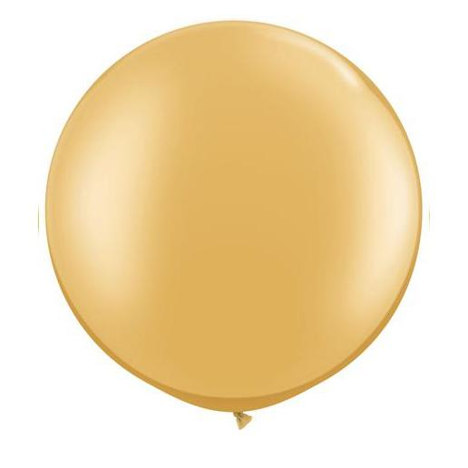 Gold Latex Balloon-Oh My Party