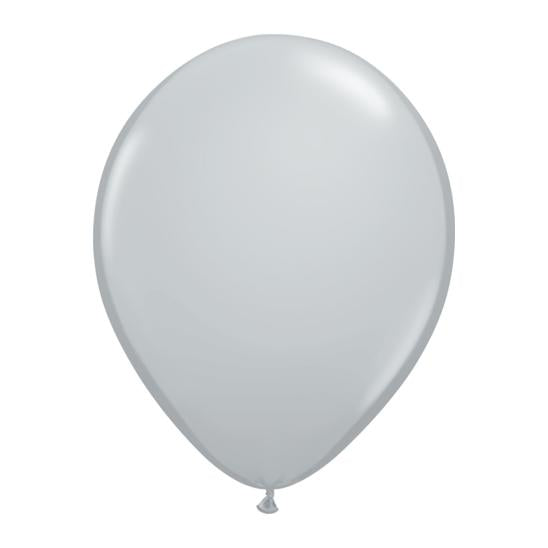 Grey Latex Balloon-Oh My Party