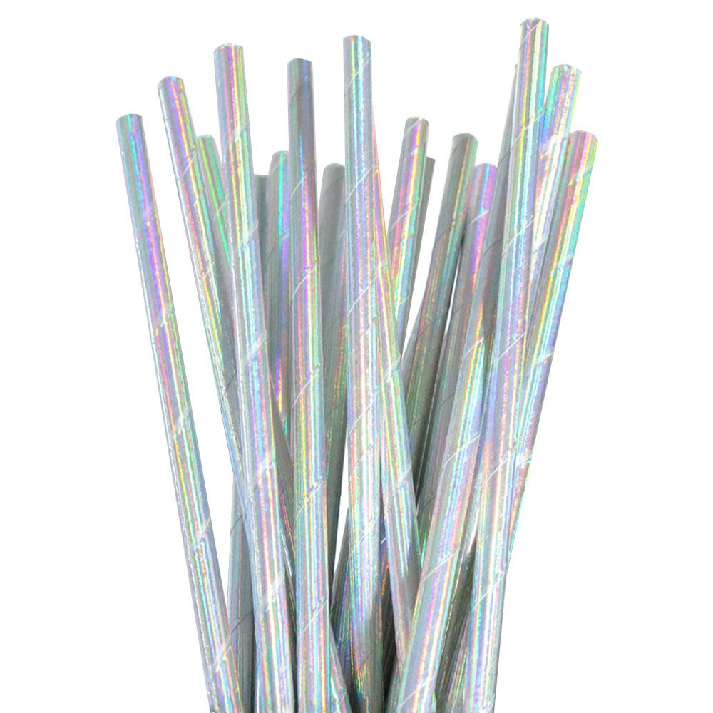 Iridescent Foil Straw - 25 Pack-Oh My Party