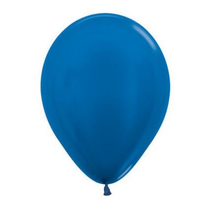 Metallic Royal Blue Latex Balloon-Oh My Party