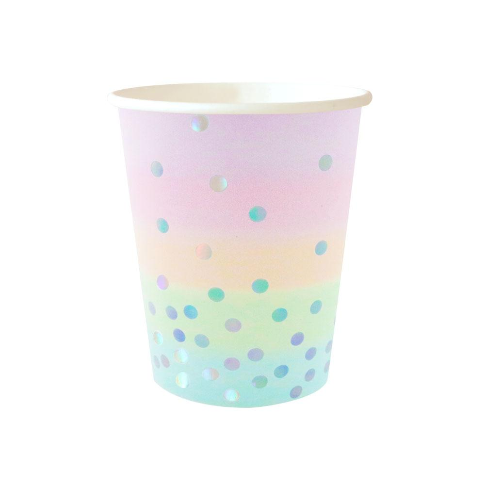 Pastel Iridescent Cup - 10 Pack-Oh My Party
