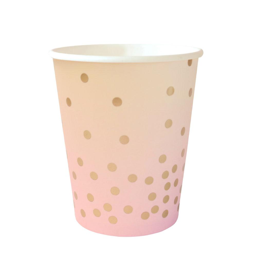 Pink & Peach Iridescent Cup - 10 Pack-Oh My Party