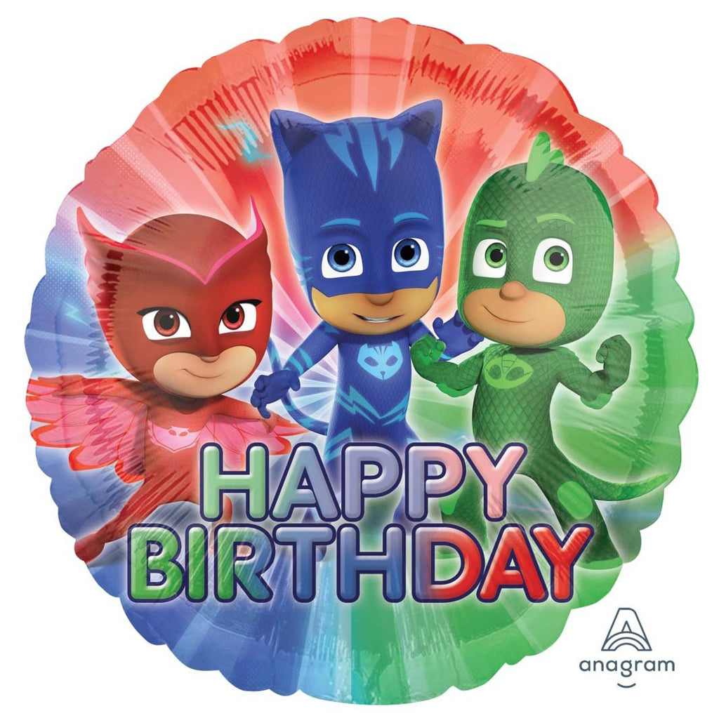 PJ Masks Happy Birthday Round Foil Balloon-Oh My Party