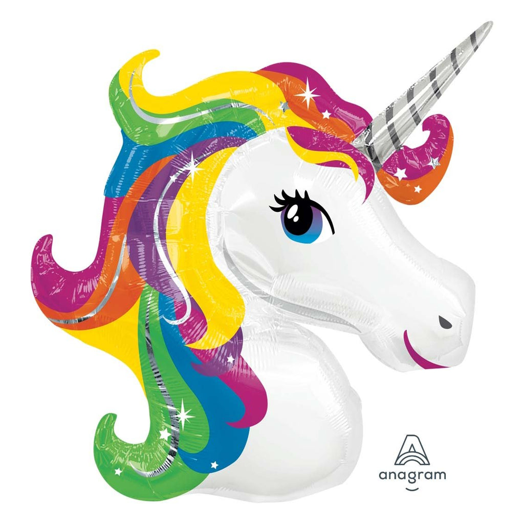 Rainbow Unicorn Foil SuperShape-Oh My Party