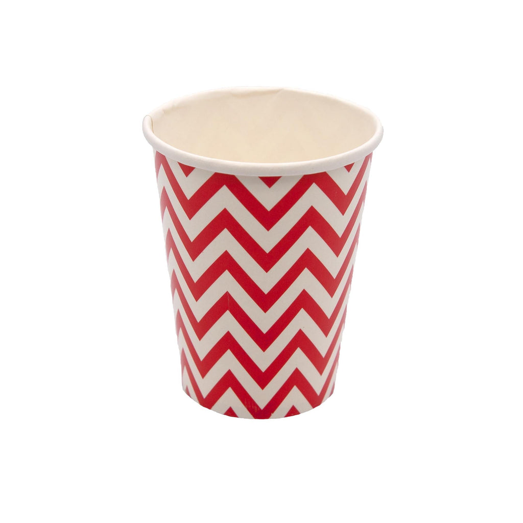 Red Chevron Cup - 10 Pack-Oh My Party
