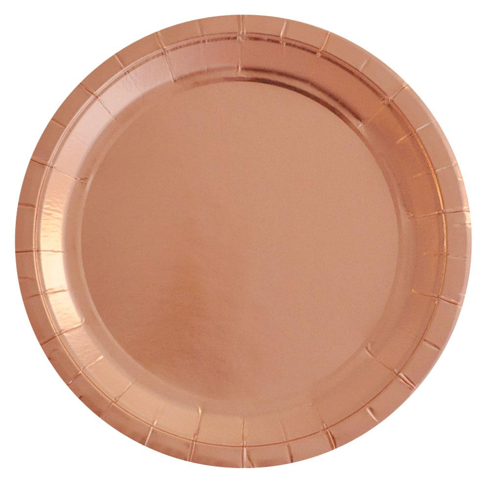 Rose Gold Plate Various Patterns - 10 Pack-Oh My Party