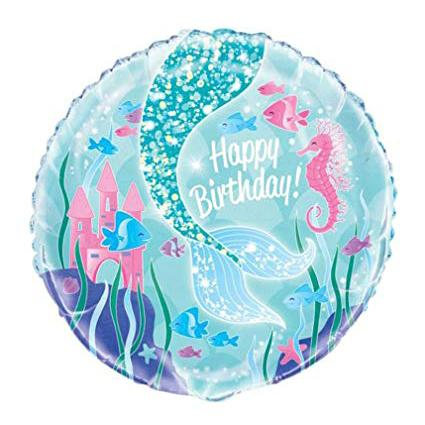 Round Mermaid Foil Balloon-Oh My Party