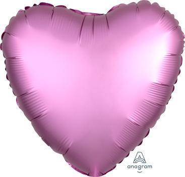 Satin Luxe Foil Heart Shape-Oh My Party