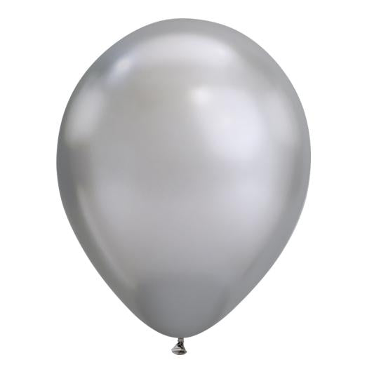 Silver Chrome Latex Balloon-Oh My Party
