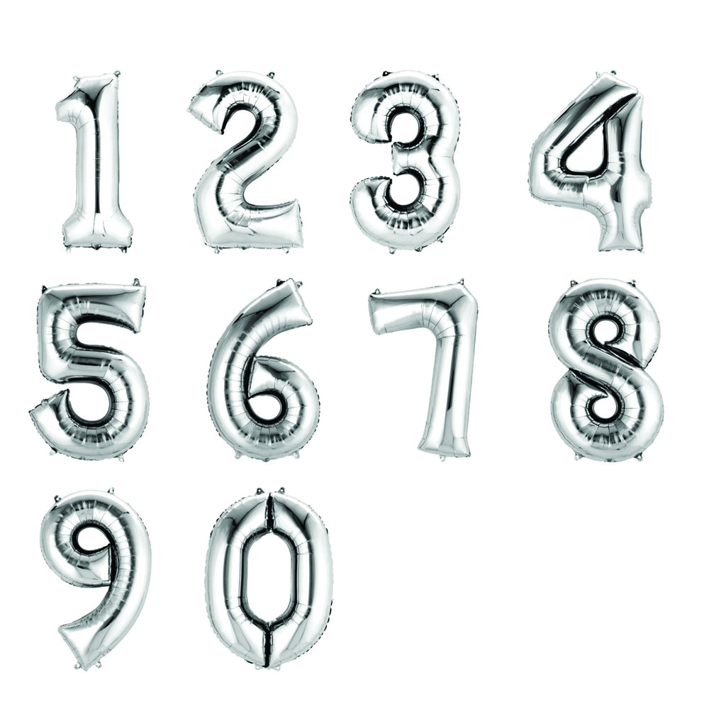 Silver Foil Numbers-Oh My Party