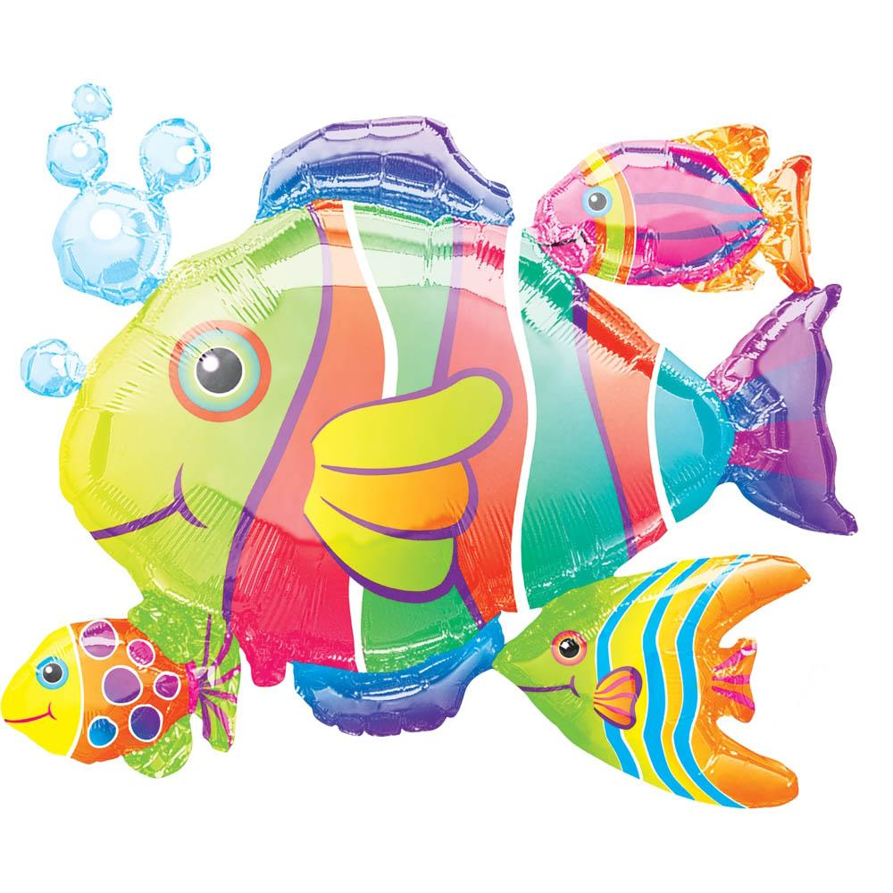 Tropical Fish Cluster Foil Shape-Oh My Party