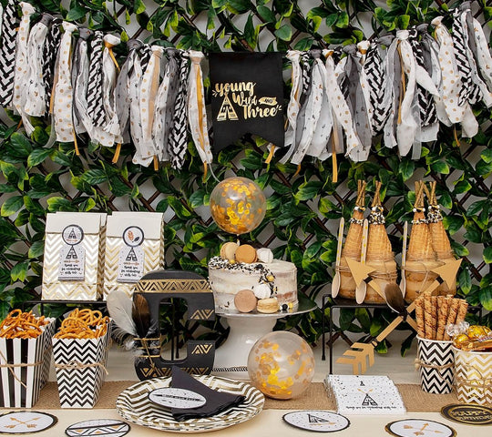 Wild - Black, Gold and White Party in a Box-Oh My Party
